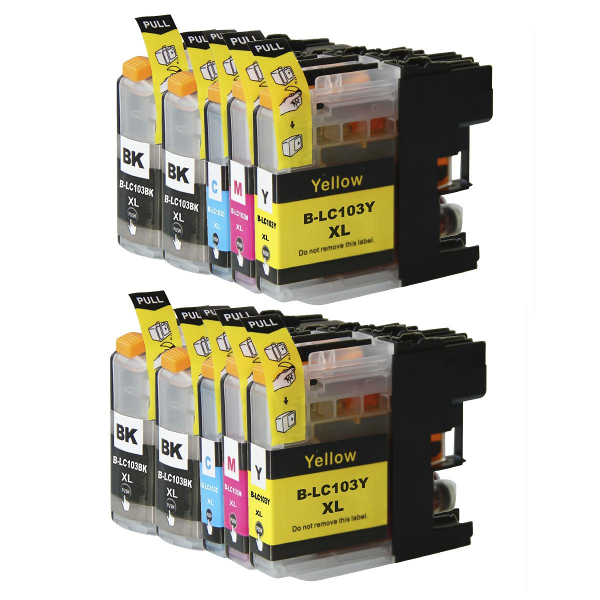 10 Ink Cartridge Compatible  Brother LC-103 XL (LC103)