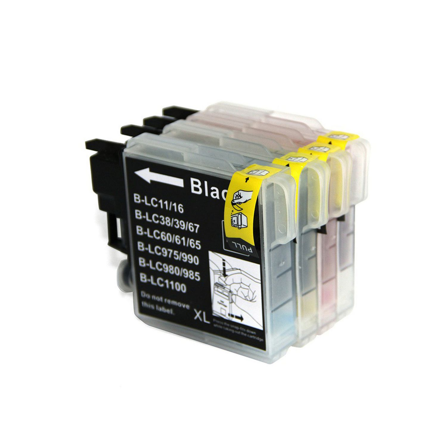 4 Ink Cartridge Compatible Brother LC-65 XL (LC65) CMYK
