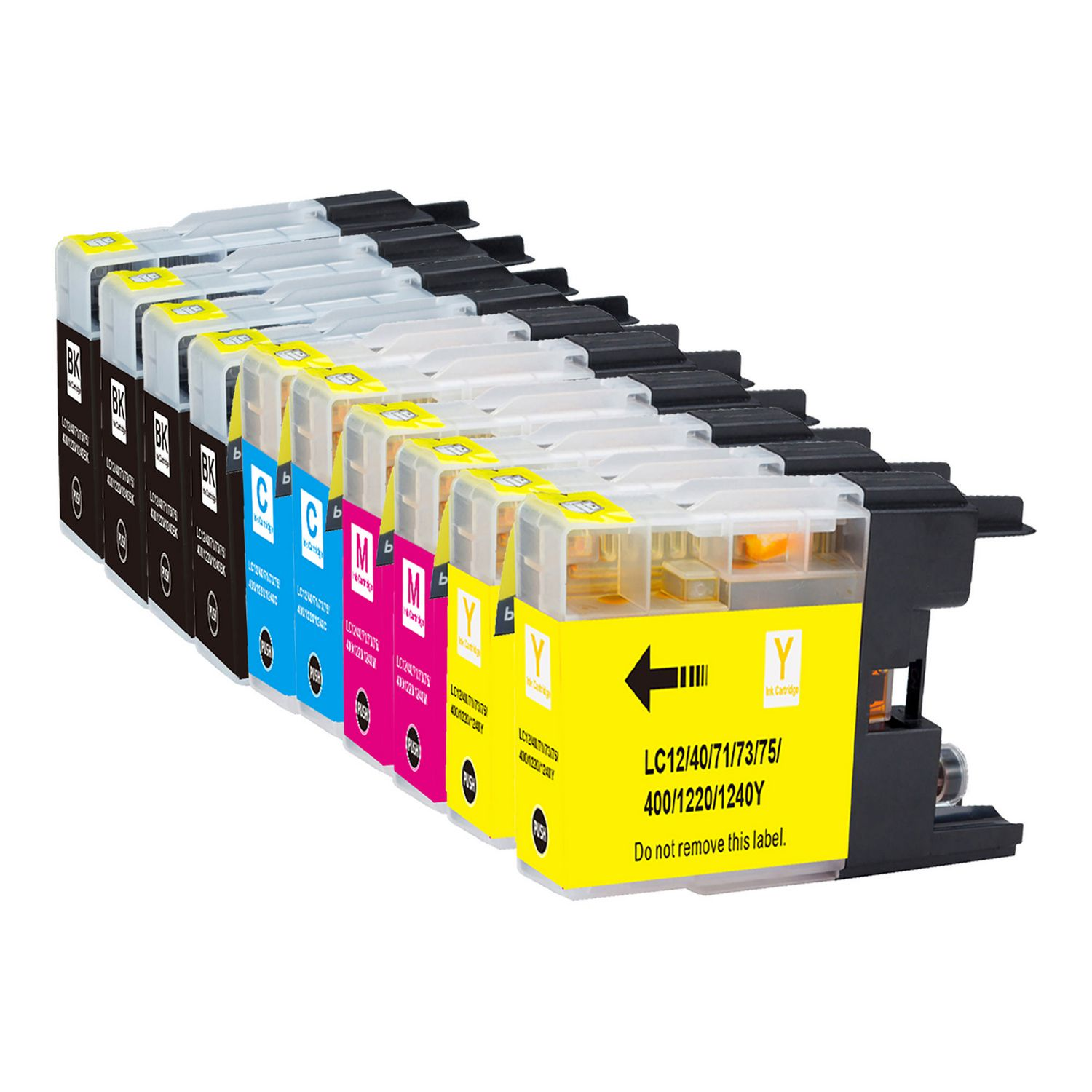 10 Cartouche d'encre Compatible Brother LC-75 XL (LC75) CMYK