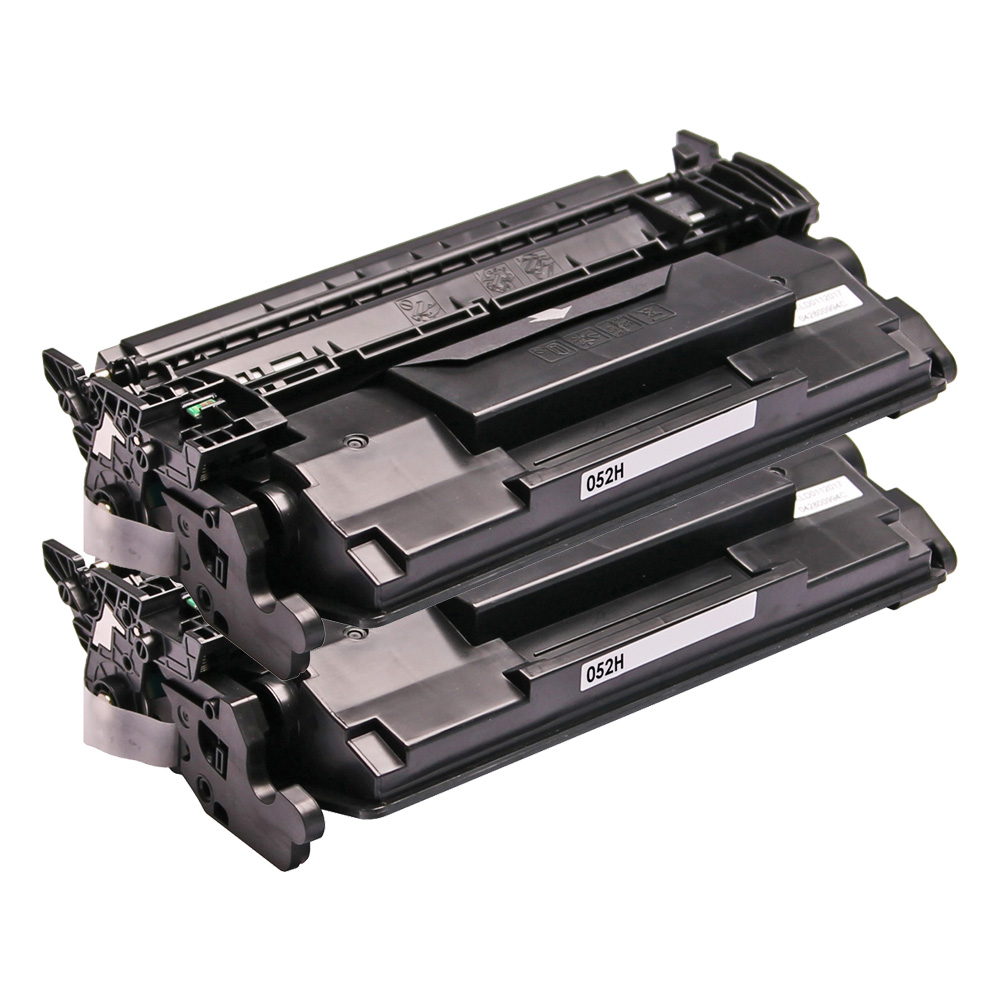 2 Toner Cartridge Compatible Canon 052H (2200C001) Black