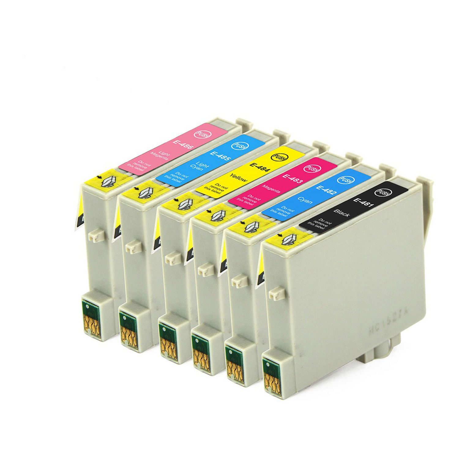 6 Ink Cartridge Compatible Epson 48 T048 XL (CMYKLCLM)