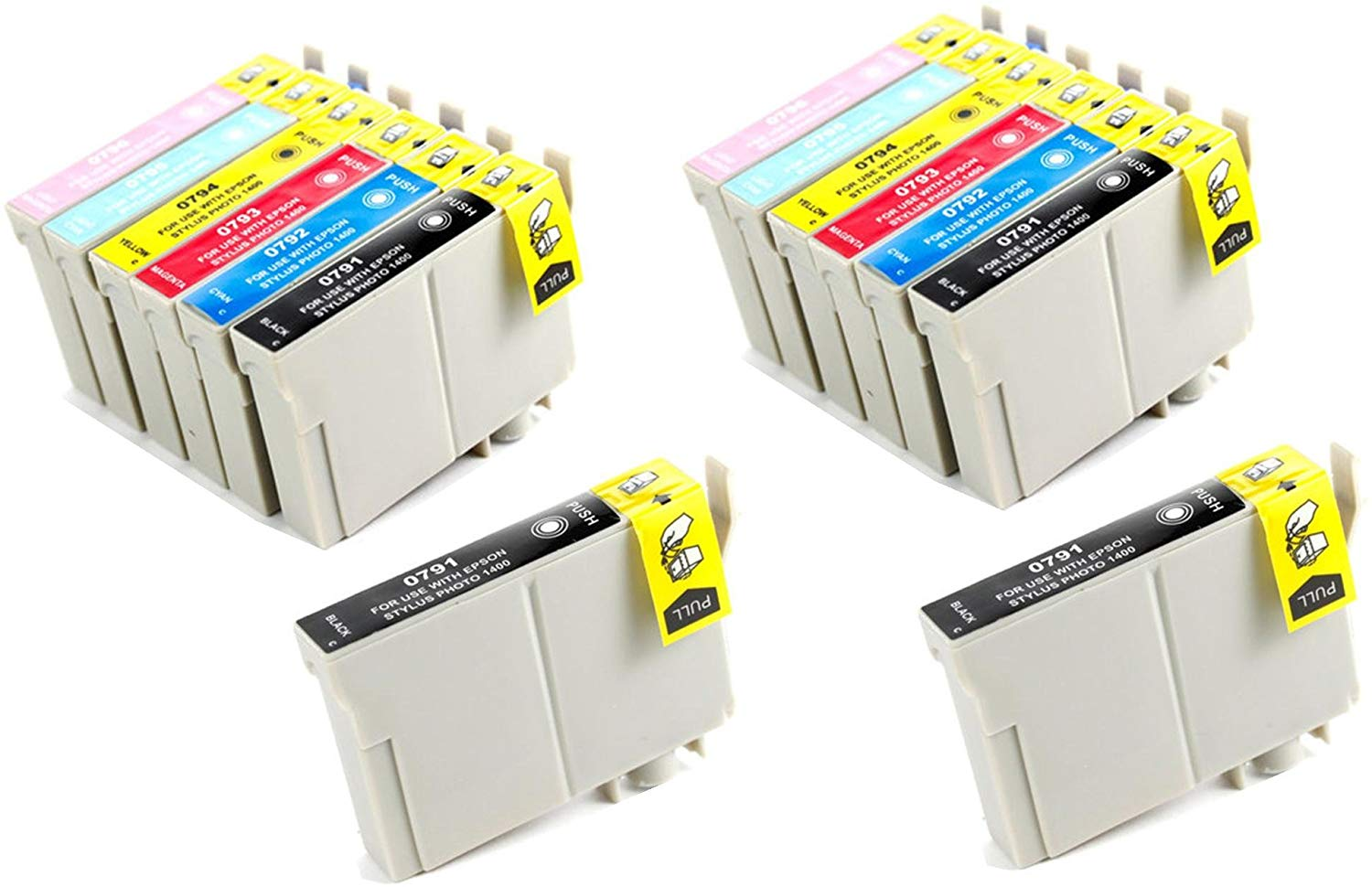 14 Ink Cartridge Compatible Epson 79 T079 XL (CMYKLCLM)