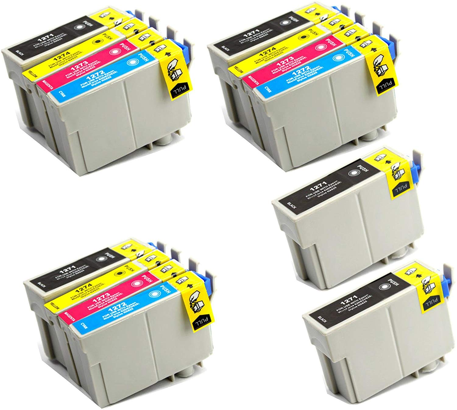 14 Ink Cartridge Compatible Epson T127 T127120 T127220 T127320 T127420