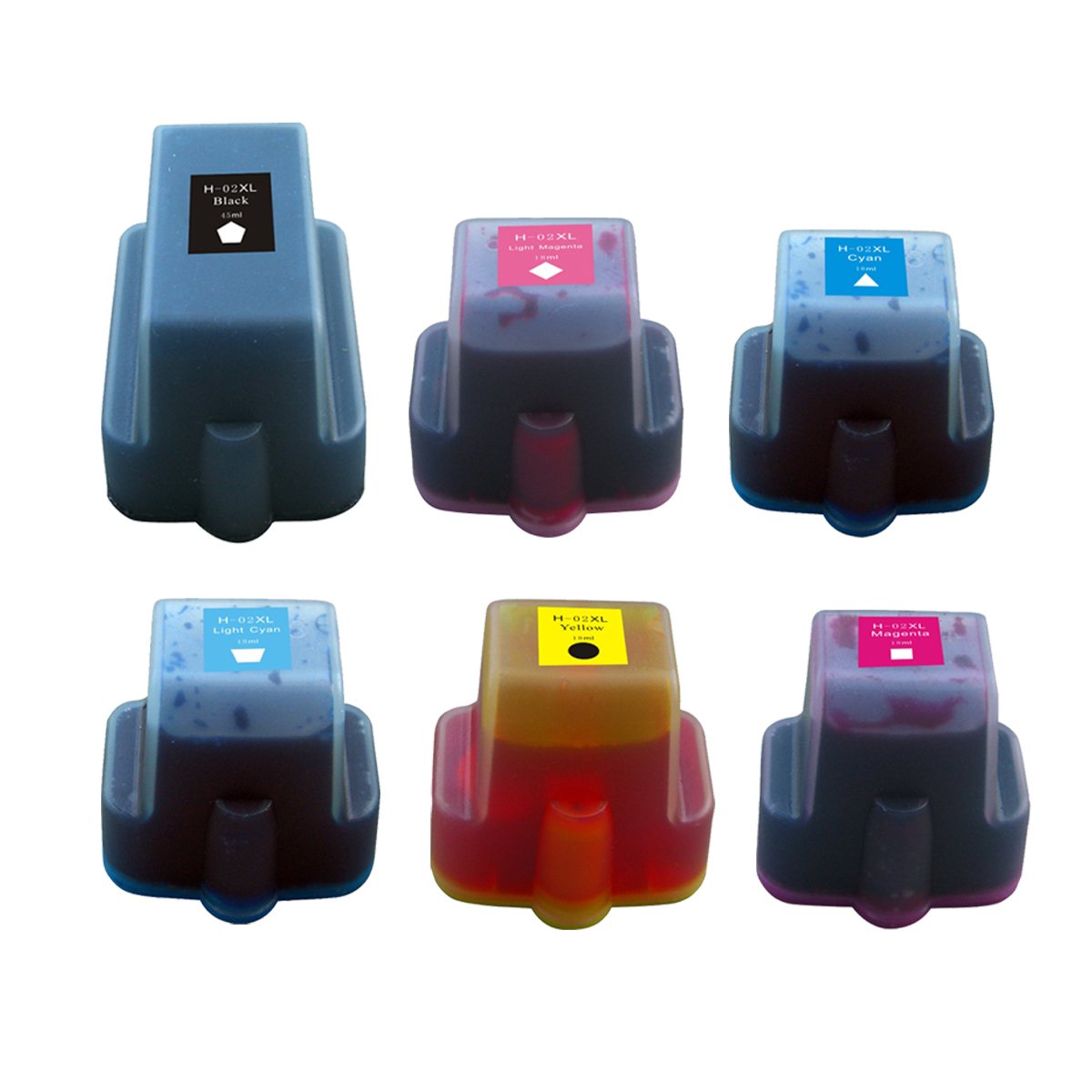 Compatible For HP 02 XL Yellow Ink Cartridge C8773WN 02XL