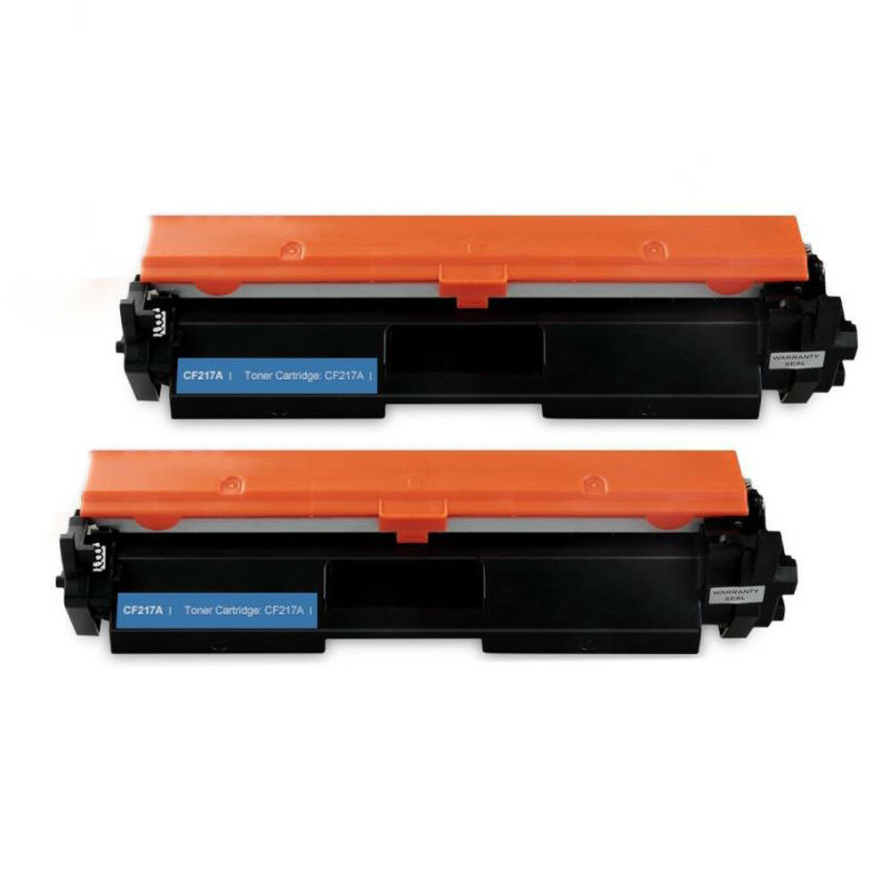 2 Toner Cartridge Compatible HP 17A (CF217A) With Chip Black