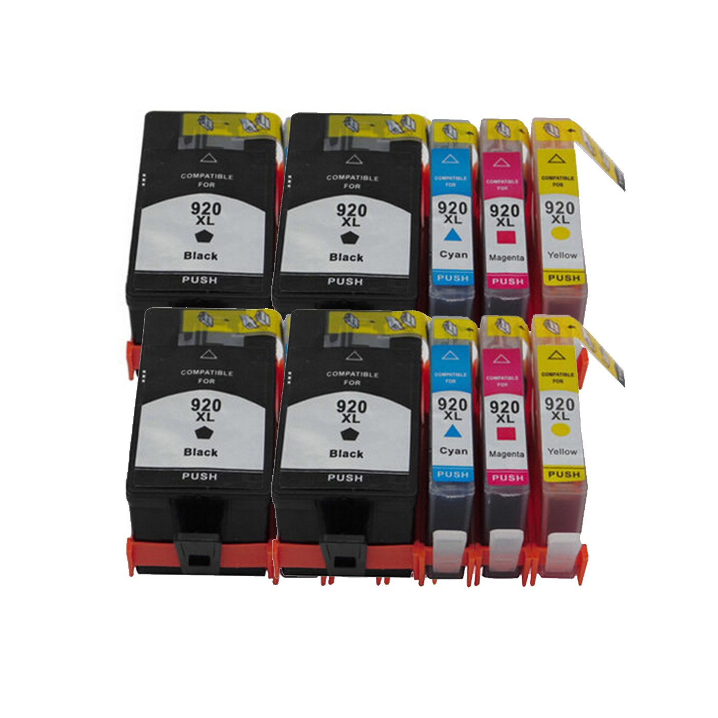 10 Ink Cartridge Compatible HP 920XL (CMYK)
