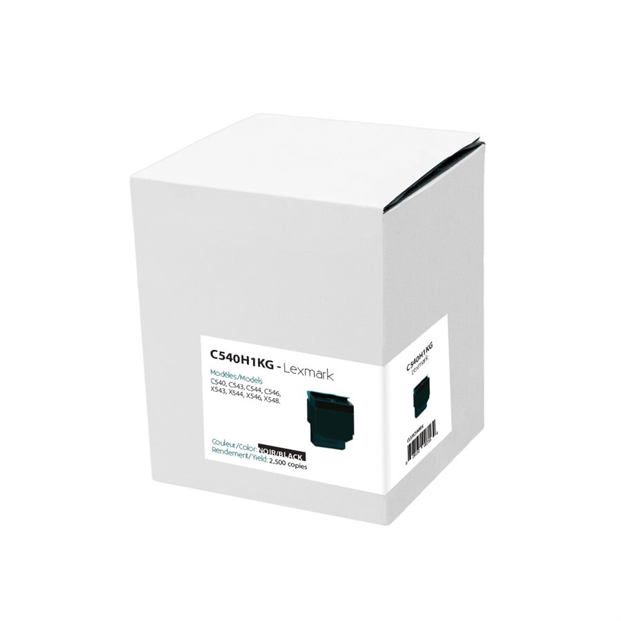 Toner Cartridge Compatible Lexmark C540H2KG (C540) Black